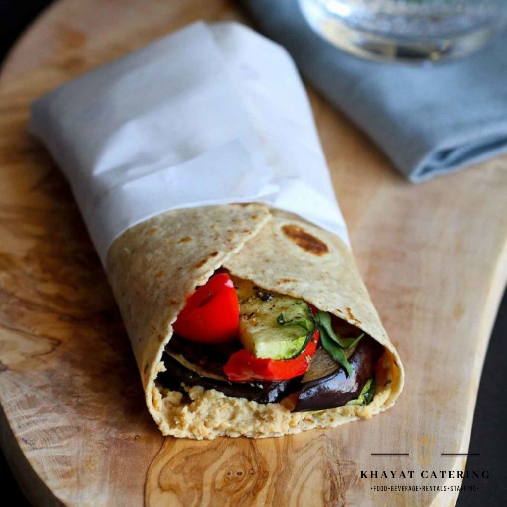 Khayat Catering grilled veggie wrap