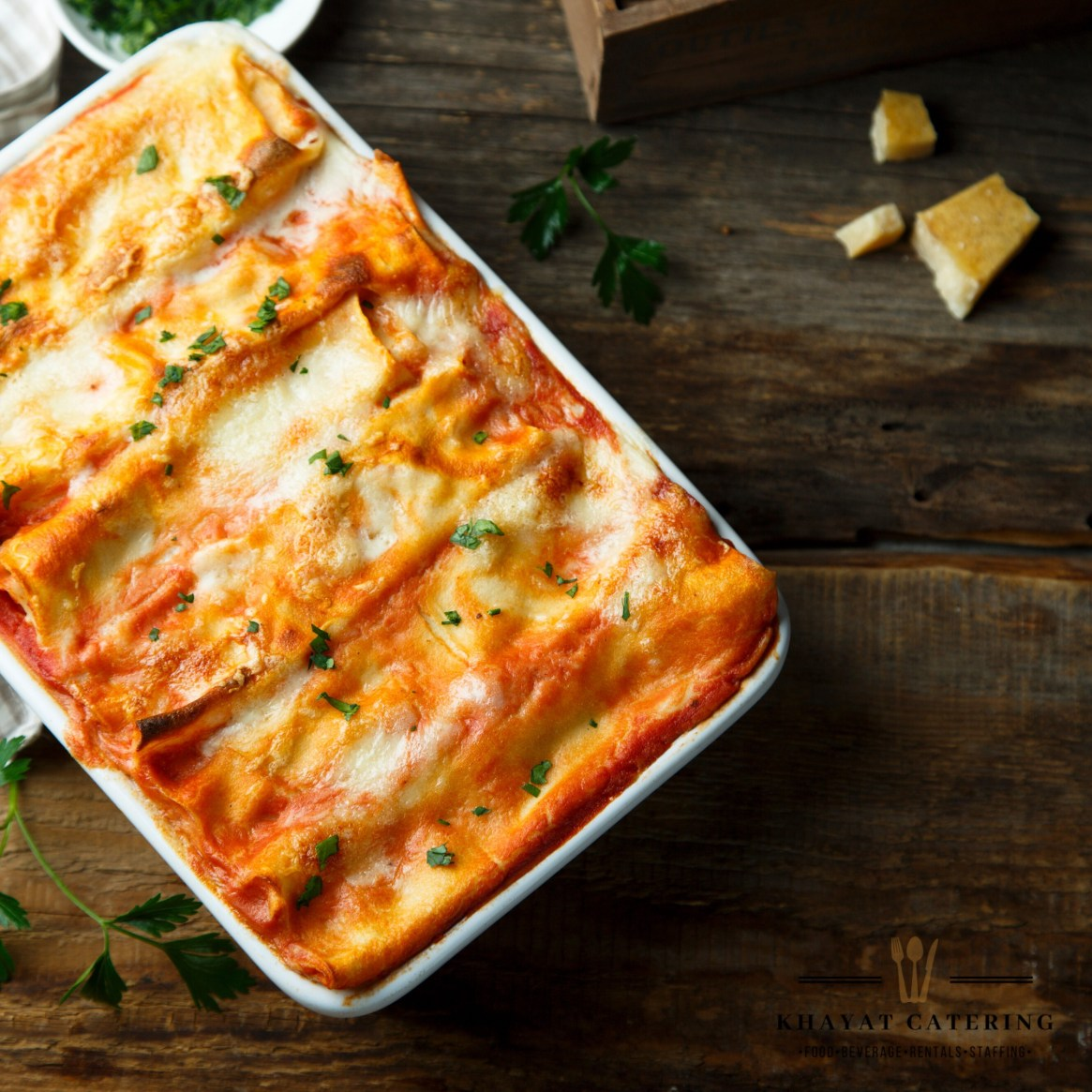 Khayat Catering lasagna