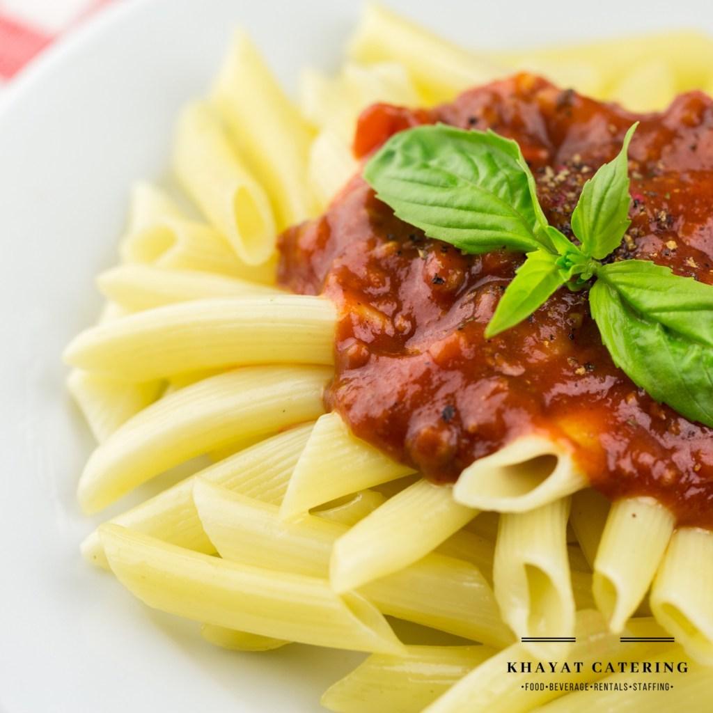 Khayat Catering mostaccioli