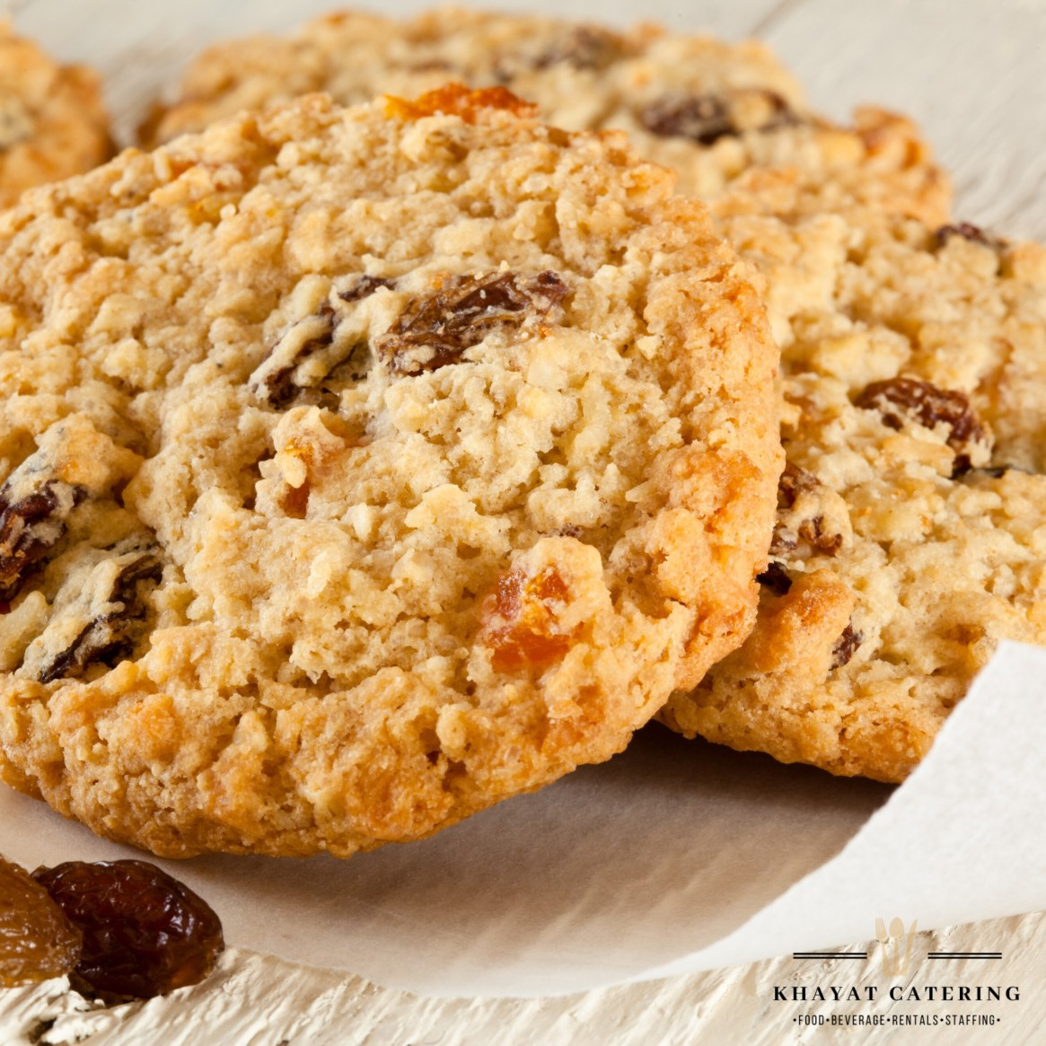 Khayat Catering oatmeal raisin cookies
