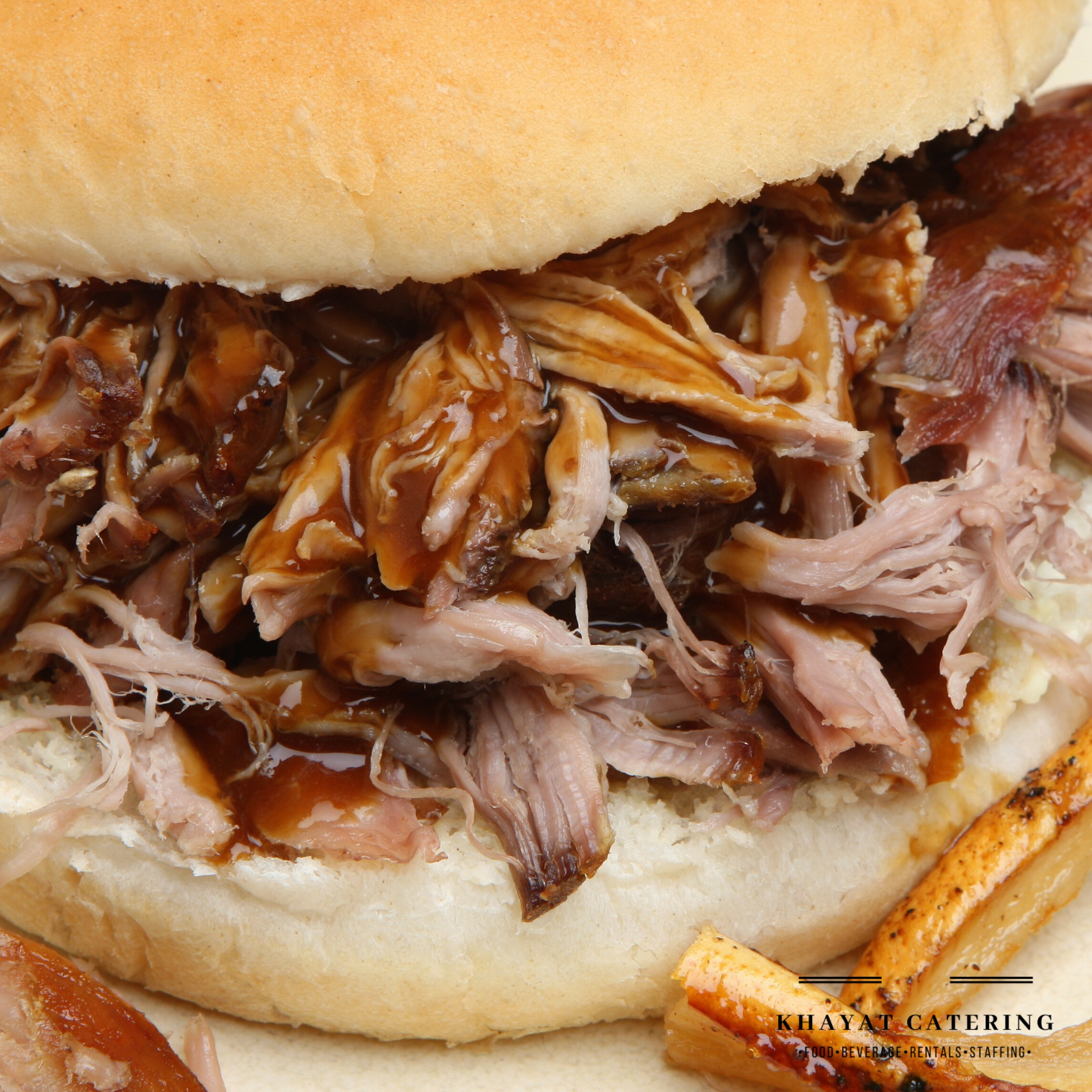 Khayat Catering pulled pork sandwich