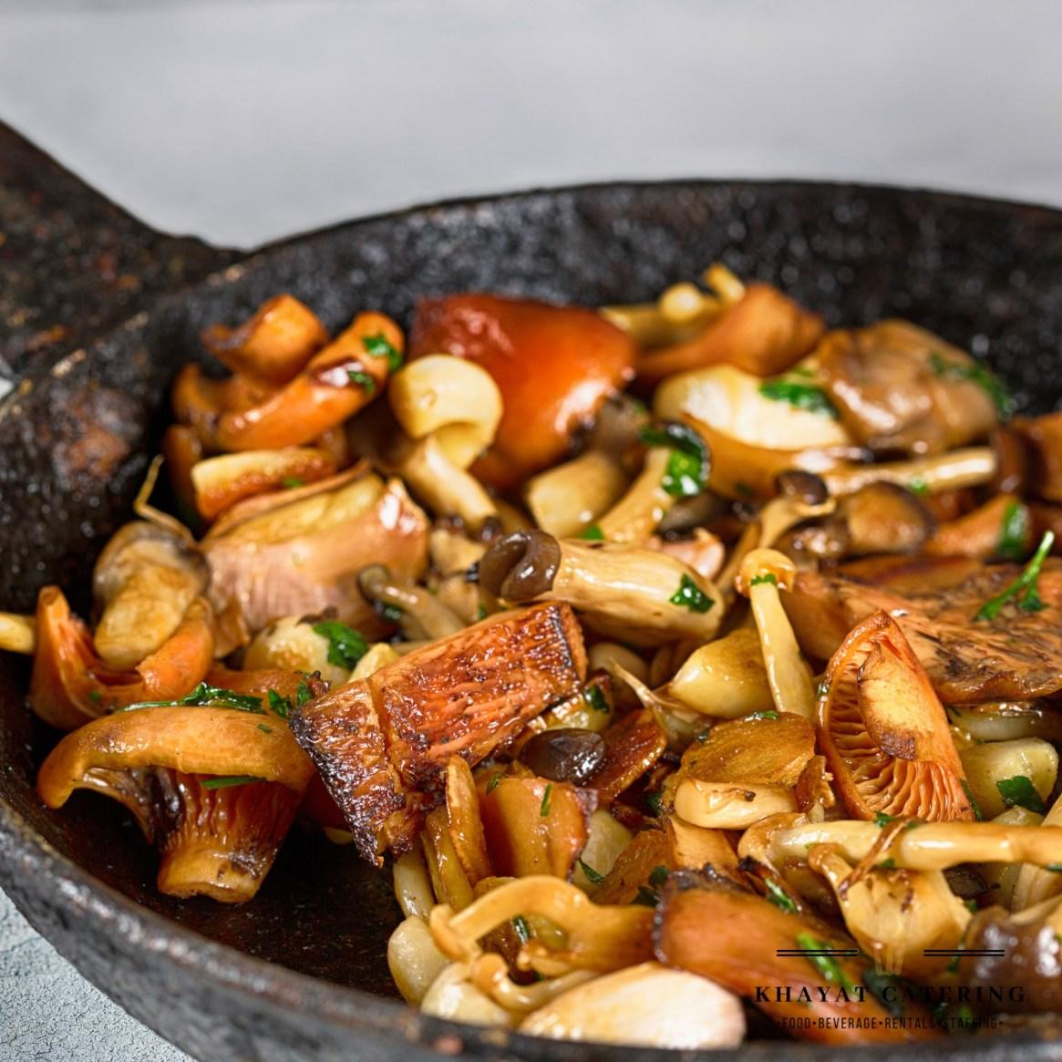 Khayat Catering roasted wild mushrooms