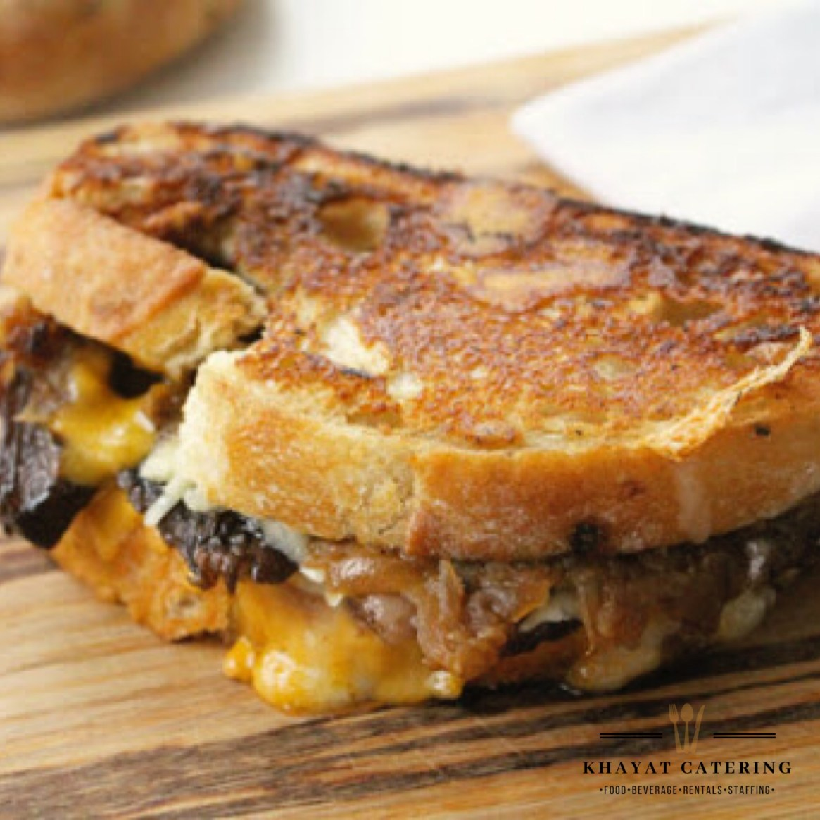Khayat Catering short rib grilled cheese