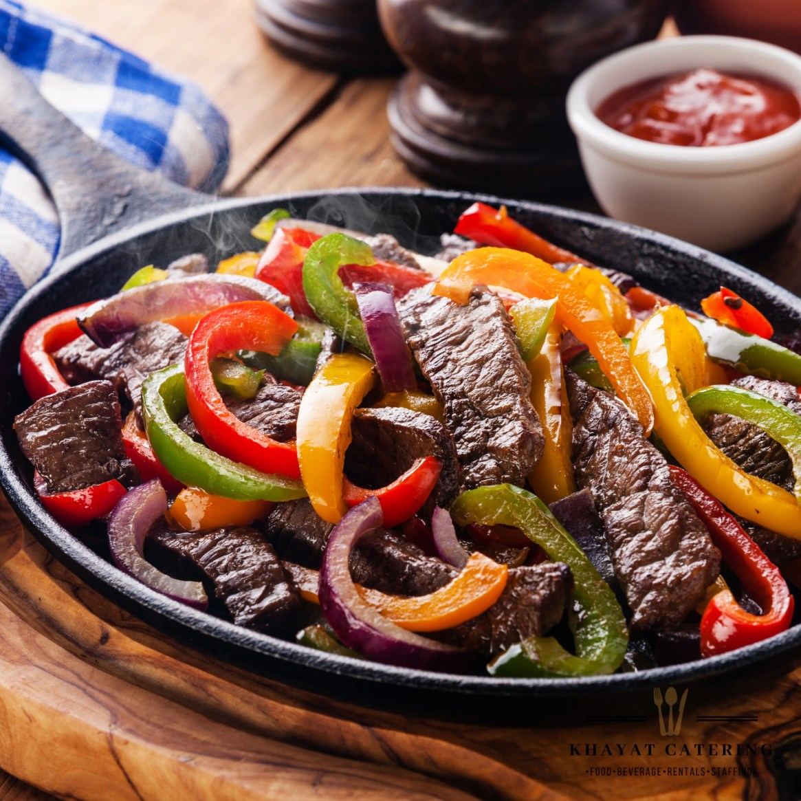 Khayat Catering steak fajitas