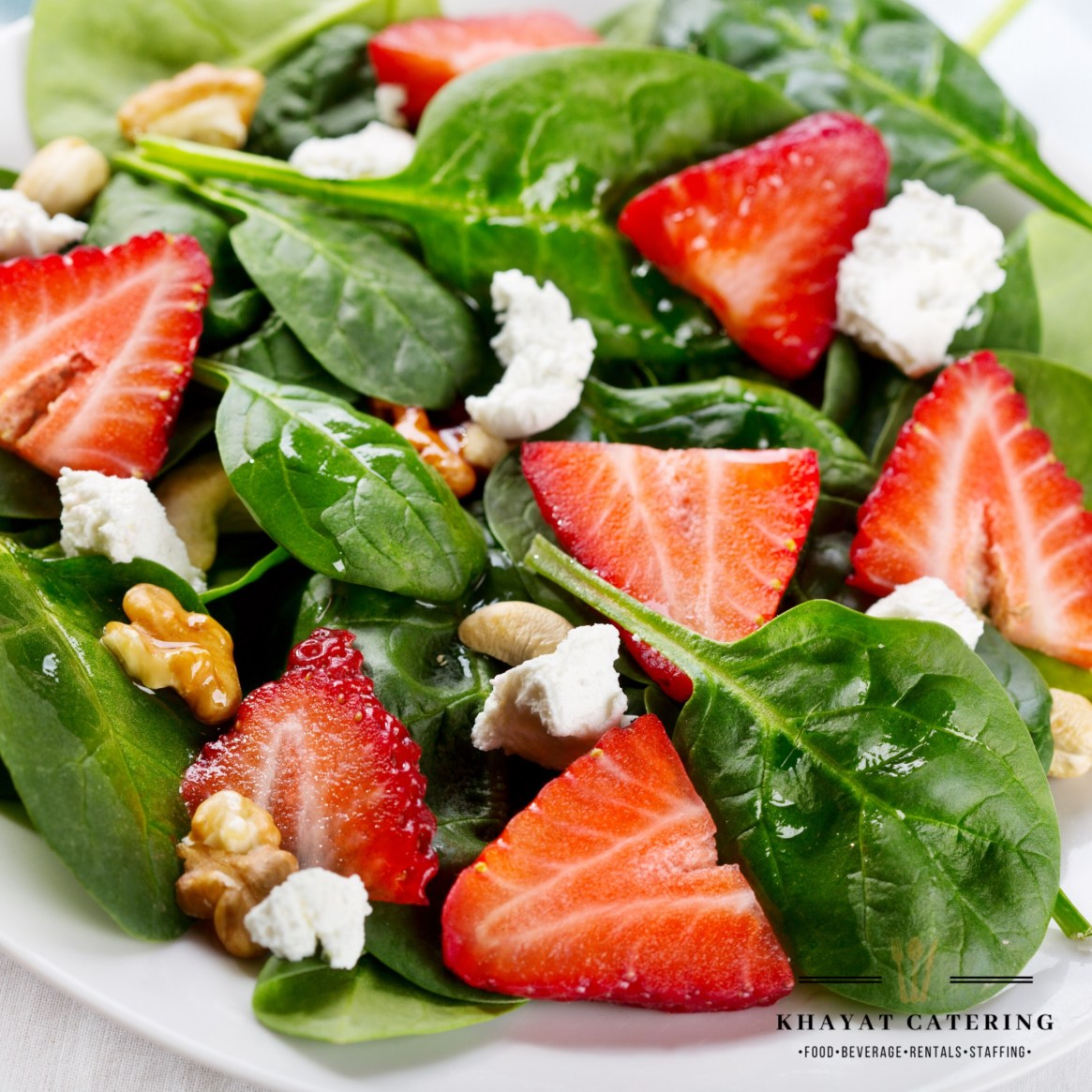Khayat Catering strawberry Salad