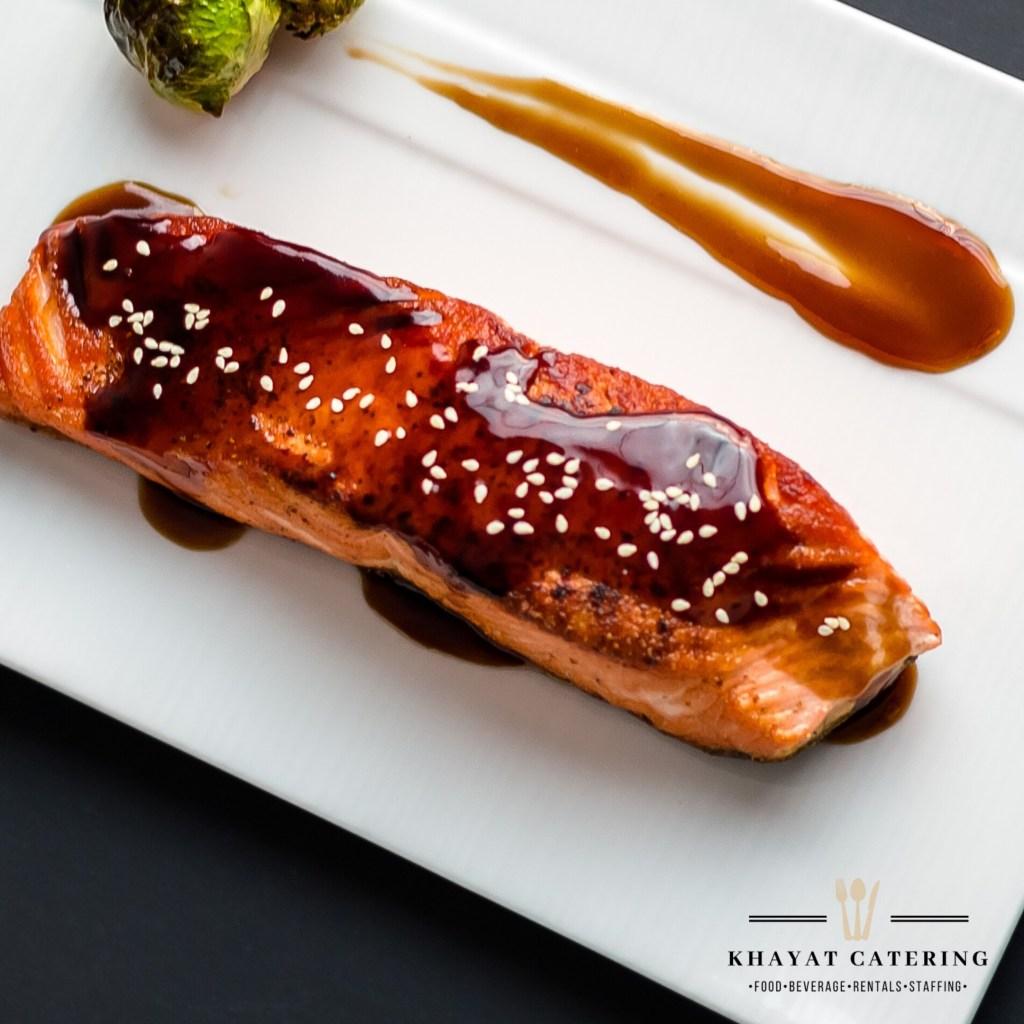 Khayat Catering teriyaki salmon