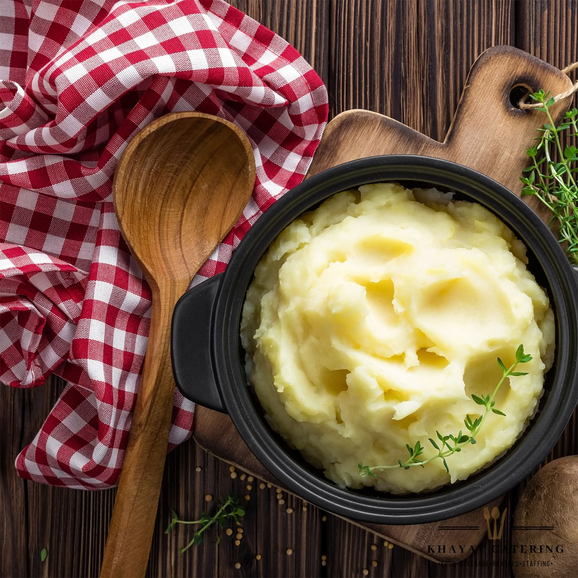 Khayat Catering truffle mashed potatoes