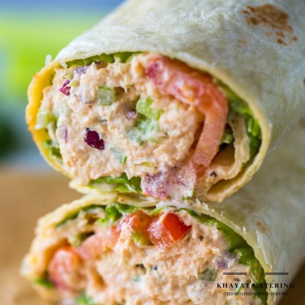 Khayat Catering tuna salad wrap
