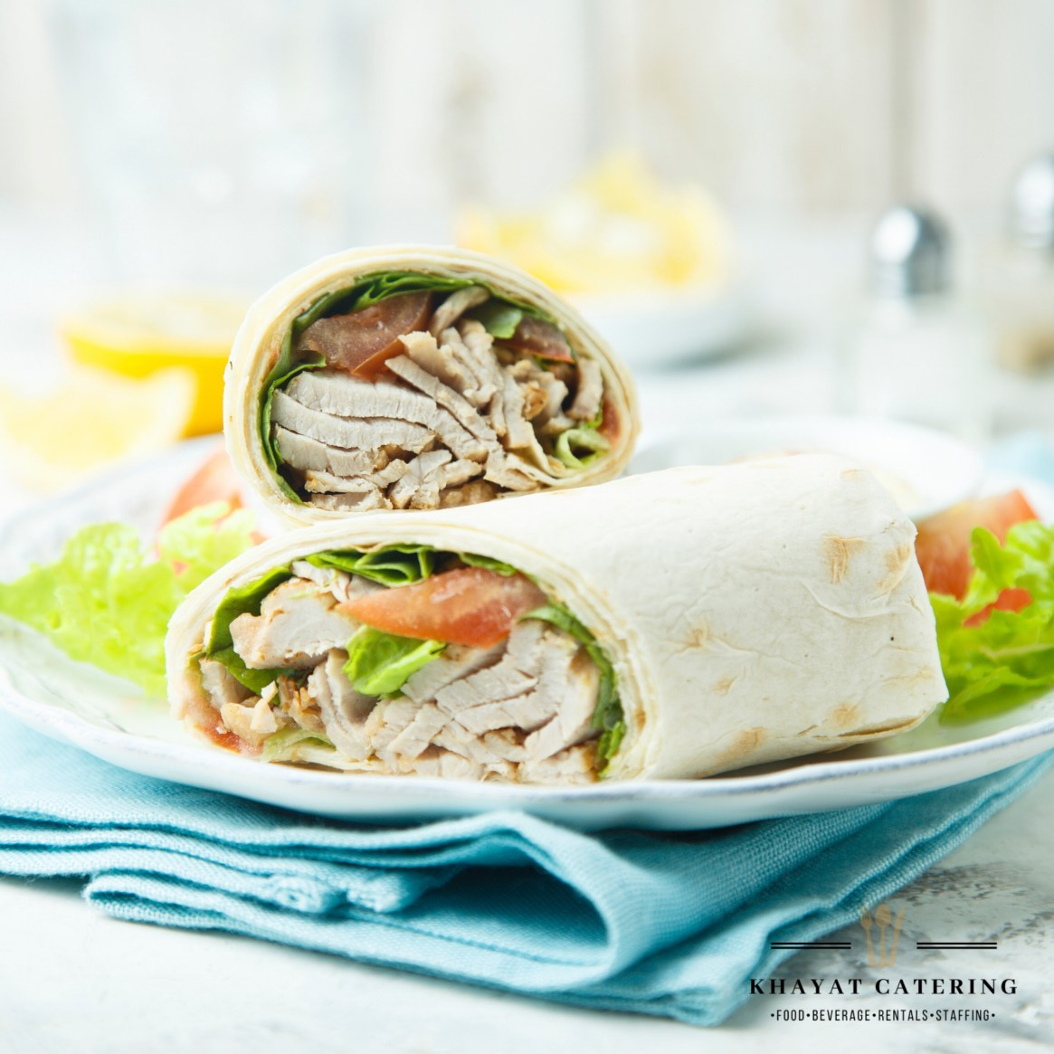 Khayat Catering turkey blt wrap