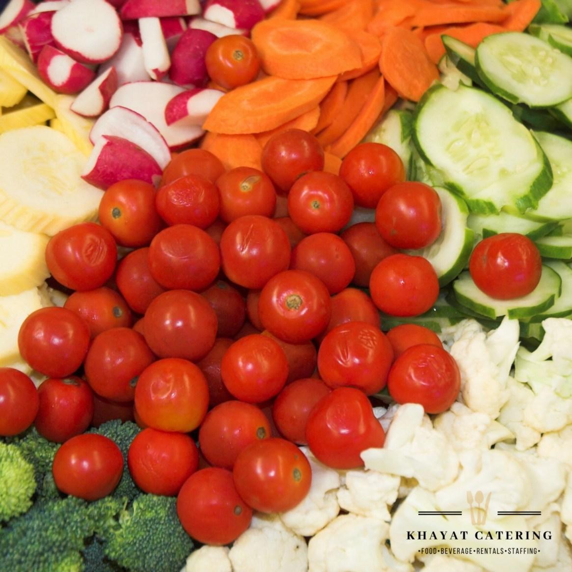 Khayat Catering vegetable platter