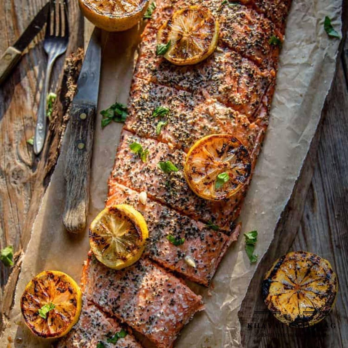 Khayat Catering whole smoked salmon