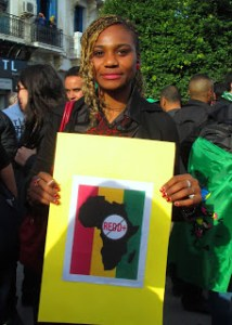 No REDD in Africa - World Social Forum March, Tunis
