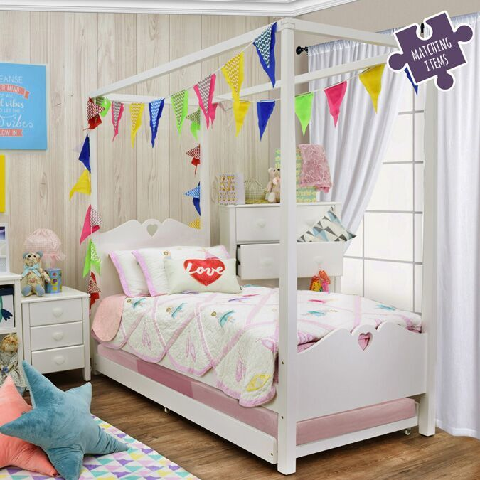 Holly Four Poster Single Bed Kids Bedroom Fads