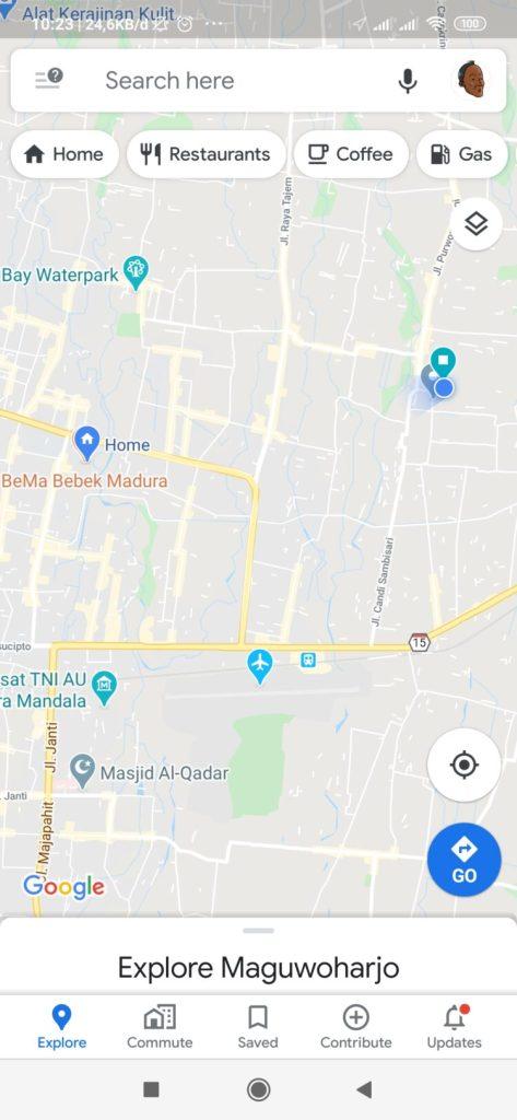 cara menambahkan nama jalan di google maps android
