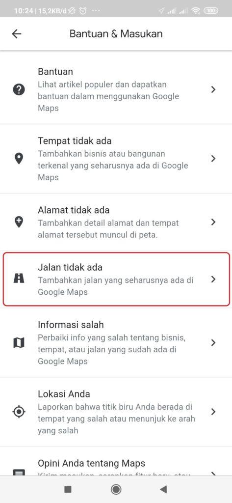 cara membuat nama jalan baru di google maps