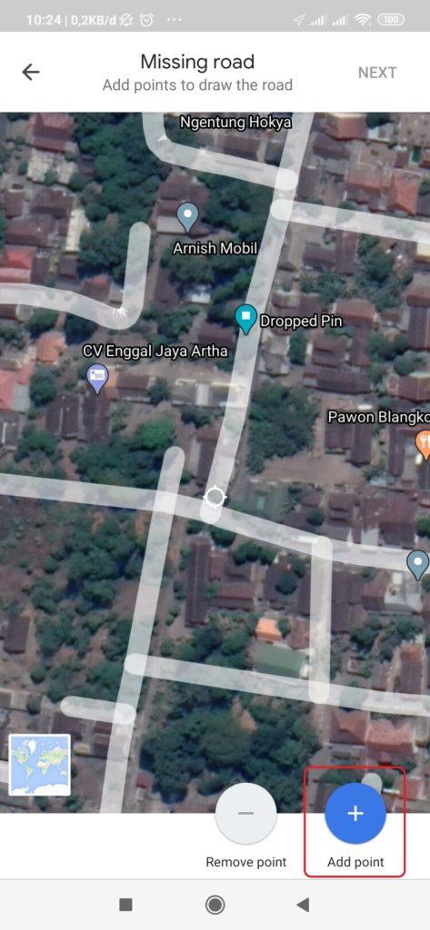 cara membuat nama jalan di google maps android