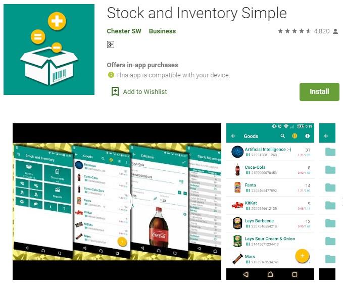 aplikasi stok barang android offline