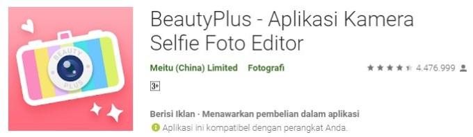 BeautyPlus aplikasi kamera keren