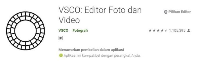 VSCO aplikasi kamera pilihan editor