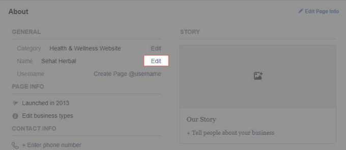2. klik edit di kolom nama