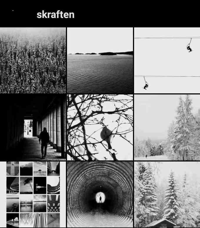 cara membuat desain feed instagram menjadi hitam putih
