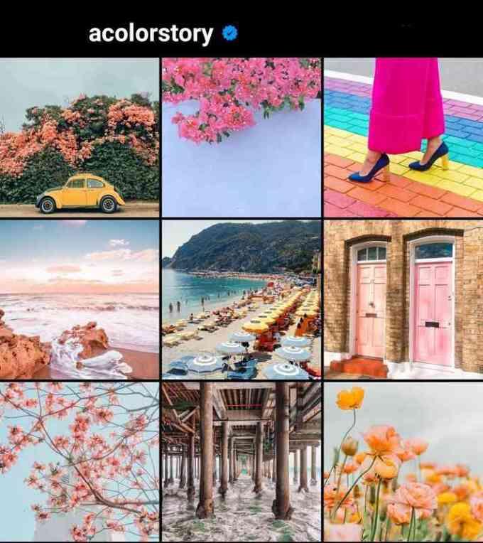 cara membuat feed instagram penuh warna