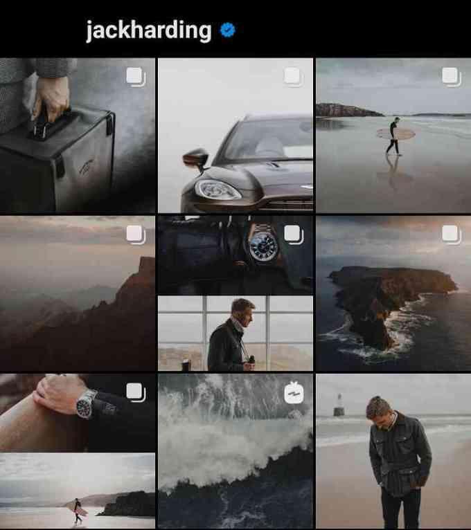 tema gelap untuk feed instagram