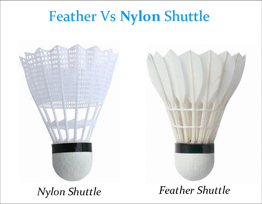 Nylon Vs Feather Badminton Shuttlecock