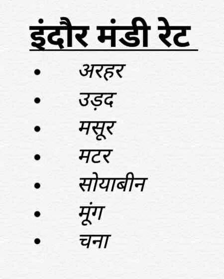 Indore Mandi Rates। इंदौर मंडी रेट 13-12-2018