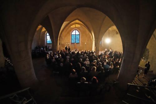 Prostor nabízí úžasné akustické podmínky pro komorní koncerty.