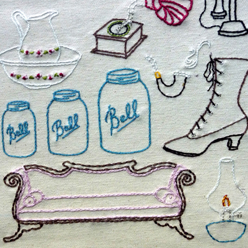 Antique Shop Embroidery Pattern, Classic Series