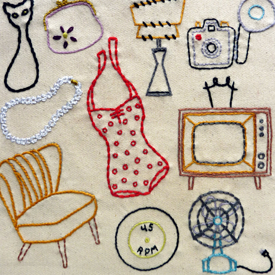 Vintage Shop Embroidery Pattern, Classic Series