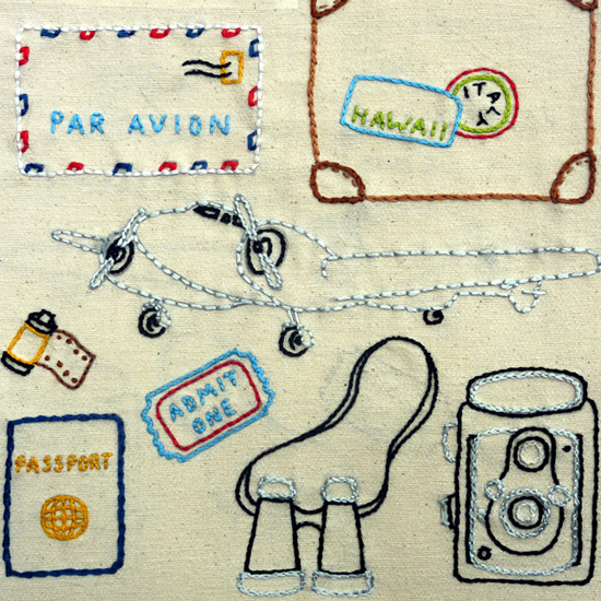 World Traveler Embroidery Pattern, Classic Series