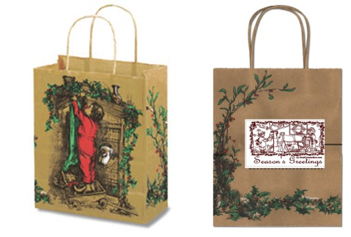 Season's Greetings Bag: Fun gift bags with a Christmas goat design!