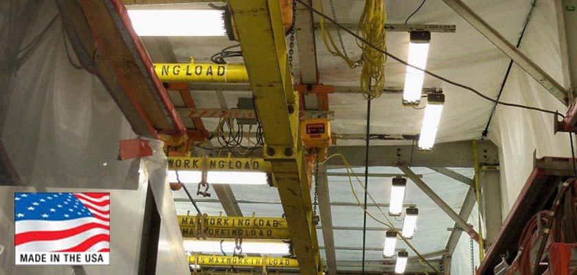 new led temporary job site lighting