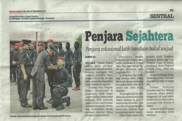 Penjara Sejahtera, Banduan dan anggota Jabatan Penjara Malaysia, Penjara Malaysia