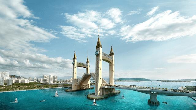 Jambatan Angkat KTCC Mercu Tanda Baru Terengganu, KTCC Drawbridge,