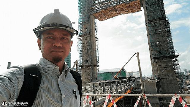 Kerja-kerja pembangunan jambatan Angkat KTCC Terengganu