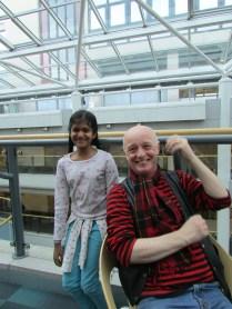 Khiyali and Professor Fiendish at Sheffield Hallam University