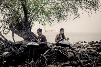 Honon, two handpan players who have showed their interest for the program and kindly offered their help for our first collaborative album.