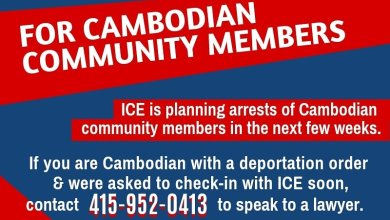 Photo of I.C.E Alert to Cambodian community member