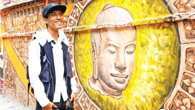 Photo of Street mural pays homage to the Khmer Empire's great king
