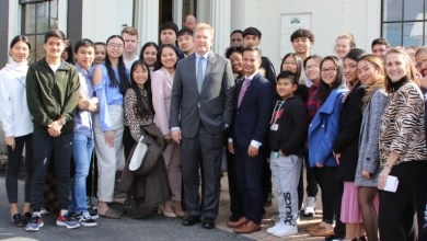 Photo of Cambodia ambassador impressed with Middlesex Community College in Massachusetts