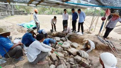 Photo of Angkor Buddhas unearthed