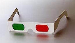 Anaglyphen 3D-Brille