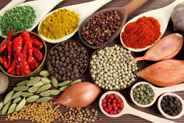 Assortment of spices and ingredients