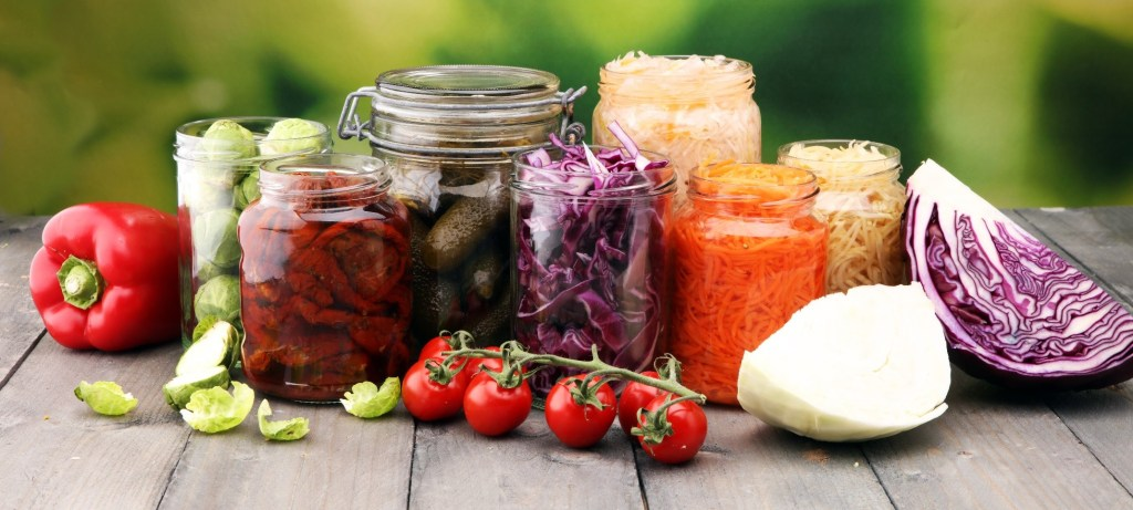 Image of pickled vegetables and other fermented foods