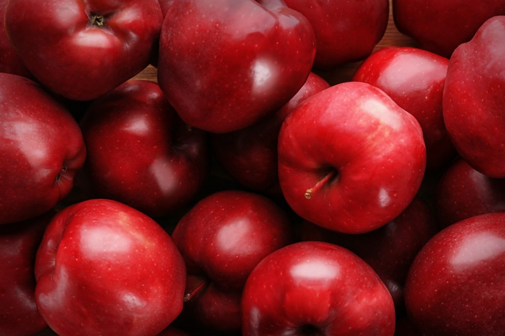 Close up of red apples