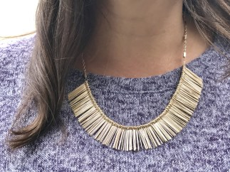 Fanned Fringe Necklace