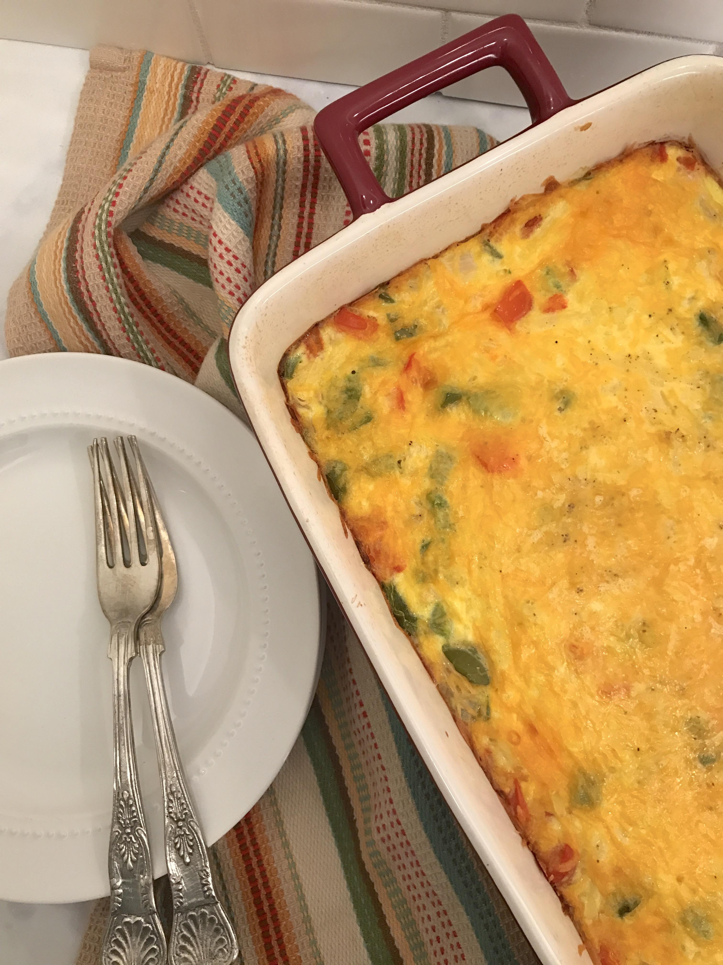 Easy Cheesy Egg Bake Recipe - KH Nutrition